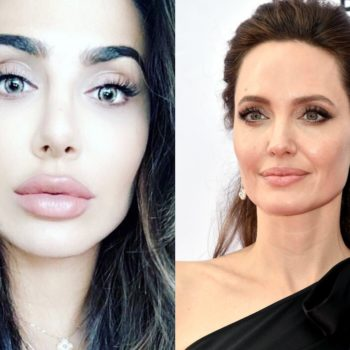 Huda Kattan transformed into Angelina Jolie, and the resemblance is uncanny