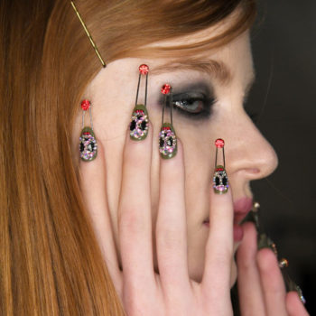 This nail art from NYFW is punk rock meets avant-garde