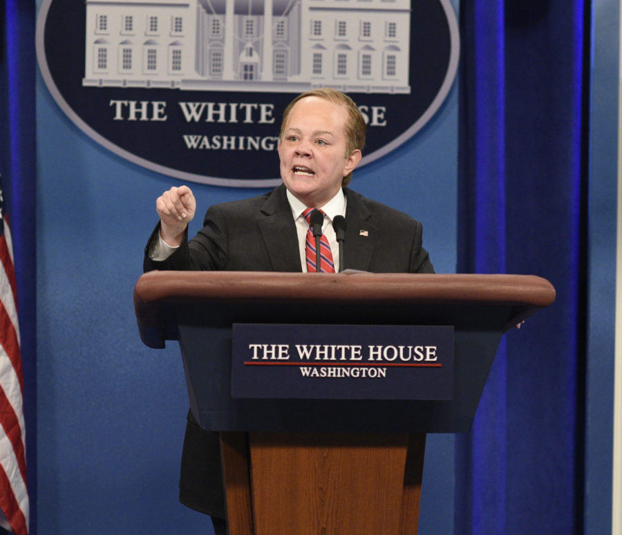 "Sean Spicer wants Melissa McCarthy to share her ""Saturday Night Live"" Emmy"