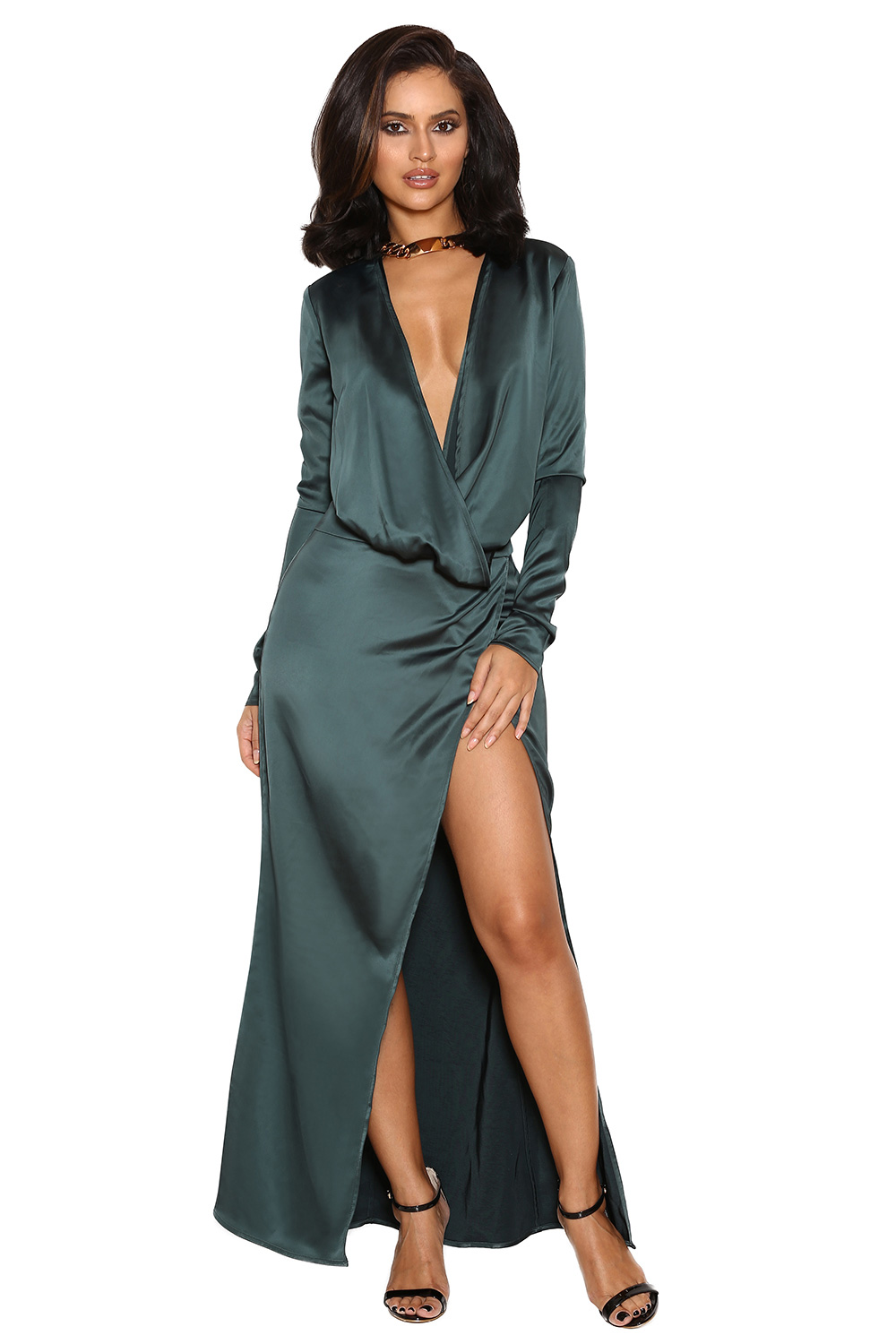 You Can Buy Beyonc 233 S Plunging High Slit Dress For 165