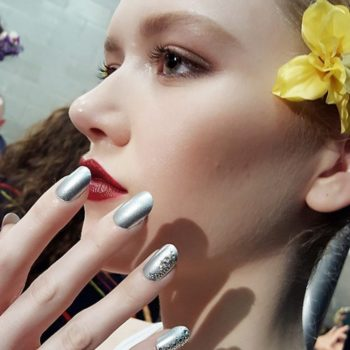 Here's how to copy the metallic and silver jewel nail look from NYFW for less than $20