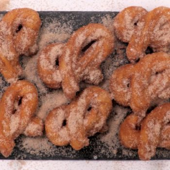 These sweet and salty churro pretzels combine two of our favorite snacks in the most delicious way