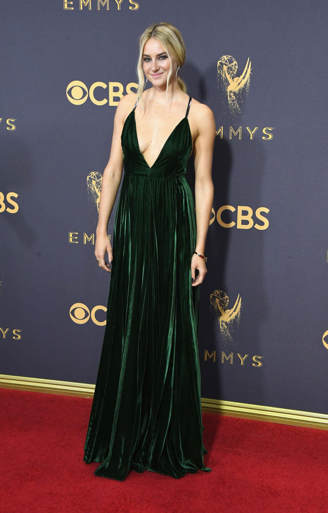 Shailene Woodley Is A Total Gem In A Plunging Green Gown