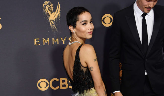 Zoë Kravitz's 2017 Emmys red carpet gown is like a fashion mood ring