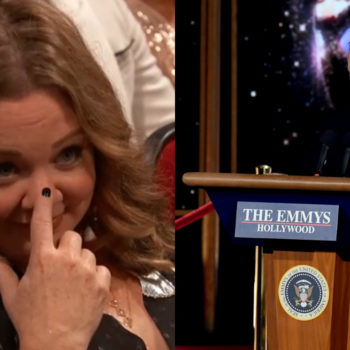 Sean Spicer showed up at the Emmys, and Melissa McCarthy had a lot of feelings