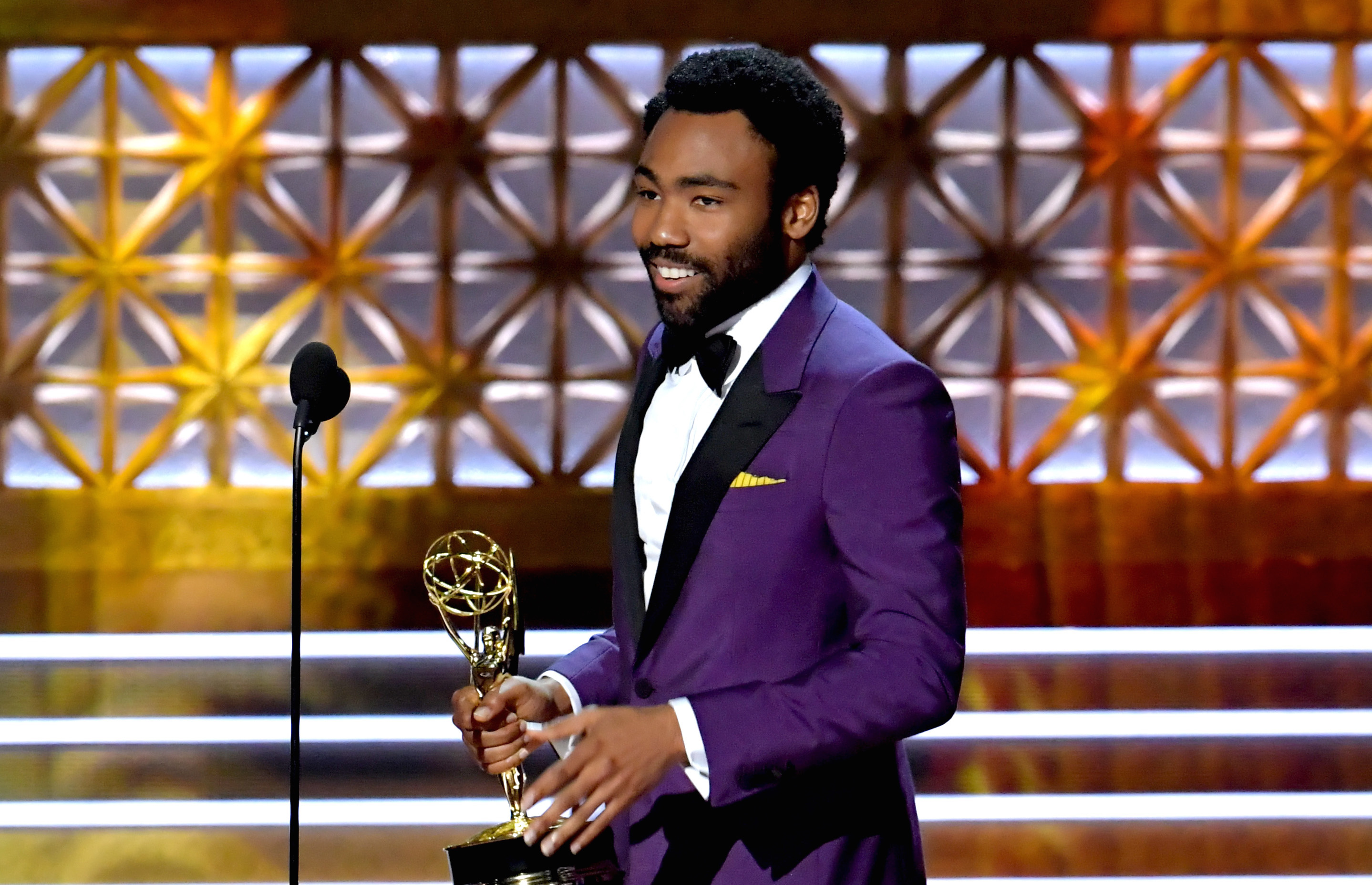 Donald Glover just low-key announced he and his partner are having another baby — all while accepting an Emmy