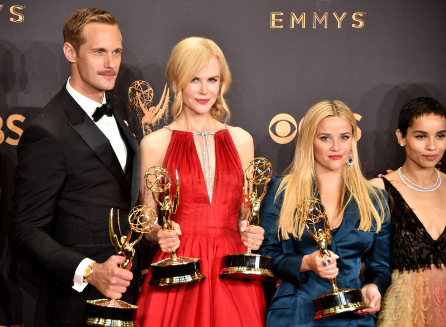 Nicole Kidman was so excited for Alexander Skarsgard's Emmy win that she literally kissed him on the mouth