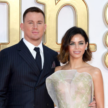 "Jenna Dewan Tatum and Channing Tatum looked so in love at the ""Kingsman"" premiere"