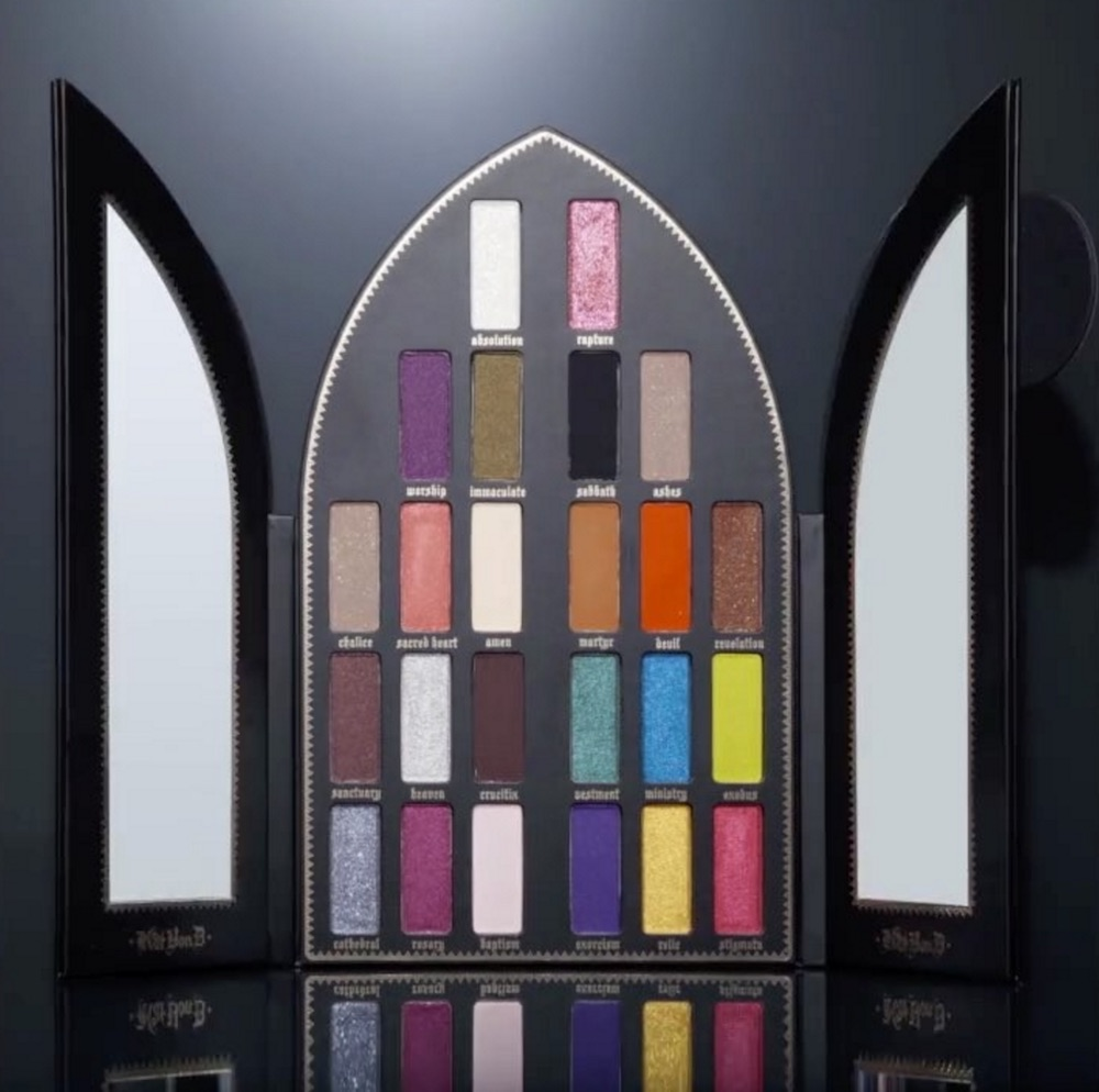 kat von d beauty 39 s coveted saint and sinner eyeshadow palette just landed at sephora hellogiggles. Black Bedroom Furniture Sets. Home Design Ideas