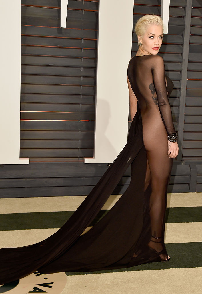 Image result for rita ora almost naked gown in 2015