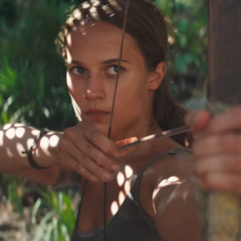 """Watch Alicia Vikander escape death *so* many times in the first trailer for """"Tomb Raider"""""""