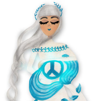 This mermaid is celebrating the International Day of Peace