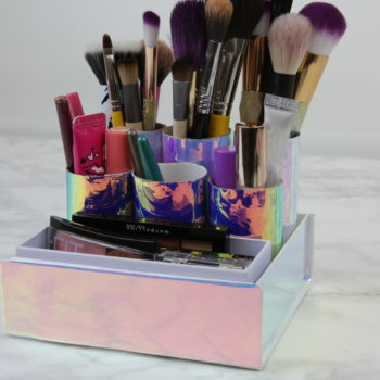 This DIY toilet roll makeup organizer is the cure for our messy medicine cabinets