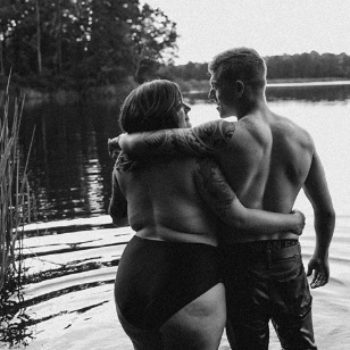 The internet has fallen in love with this couple's body-positive engagement photos