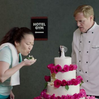 This woman made an incredible point about sexual assault while destroying a wedding cake
