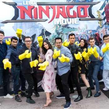 "The cast of ""The Lego Ninjago Movie"" was humbled to receive their Lego counterpart — except for Zach Woods, who now feels like a god"