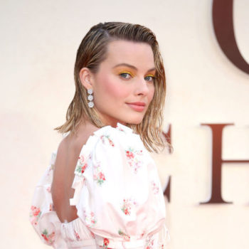 Margot Robbie's embellished sweater is one your cool grandma would steal