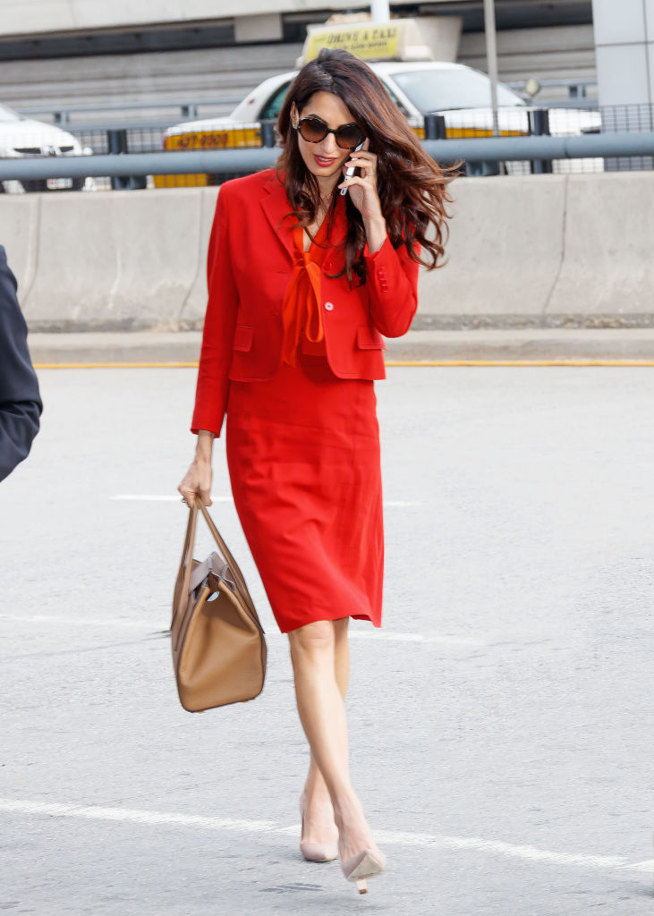 NEW YORK, NY - SEPTEMBER 21: Amal Clooney on September 21, 2017 in New York City. (Photo by Gotham/GC Images)