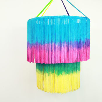 This DIY fringe chandelier will make your home decor so high fashion