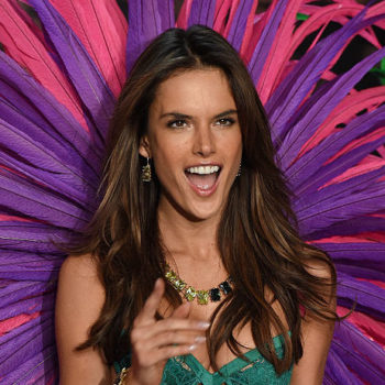 Alessandra Ambrosio essentially wore a sparkly bikini under a one-sleeved dress, and it totally works