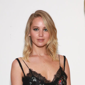 Jennifer Lawrence wore a gothic lingerie-inspired dress while out and about