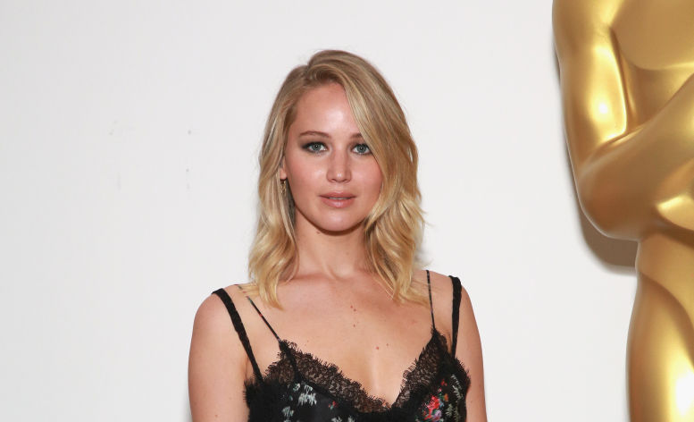 Jennifer Lawrence wore a gothic lingerie-inspired dress and is now our fall floral inspiration