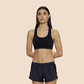 These gym shorts absorb your period so you can free bleed while you work out