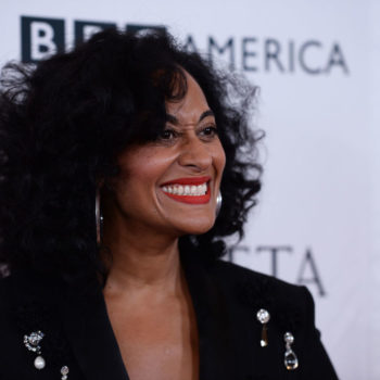 Tracee Ellis Ross wears bright red lipstick to the gym for the best reason