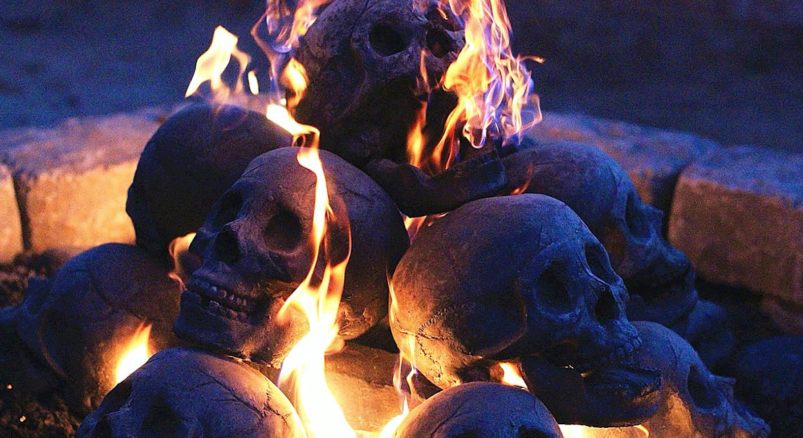 This Halloween, these skull logs will turn your fireplace into the pits of Hell