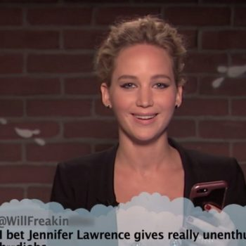 Gal Gadot, Jennifer Lawrence, and Kristen Bell just read mean tweets about themselves, and LOL forever