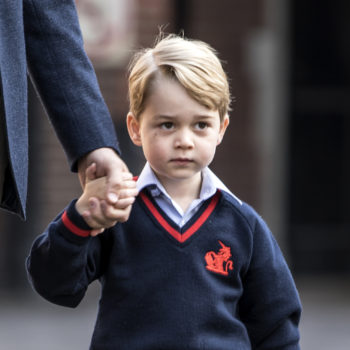 Prince William revealed Prince George didn't want to go to school today, and we've been there