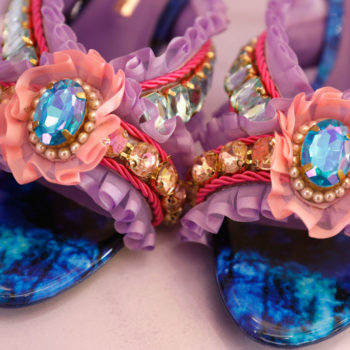 These shoes look like Funfetti cake had a baby with fashion