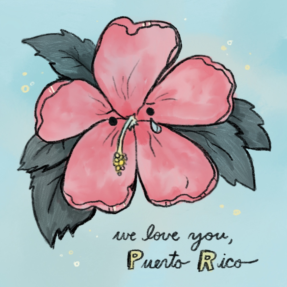 Sending our love to the lovely island of Puerto Rico