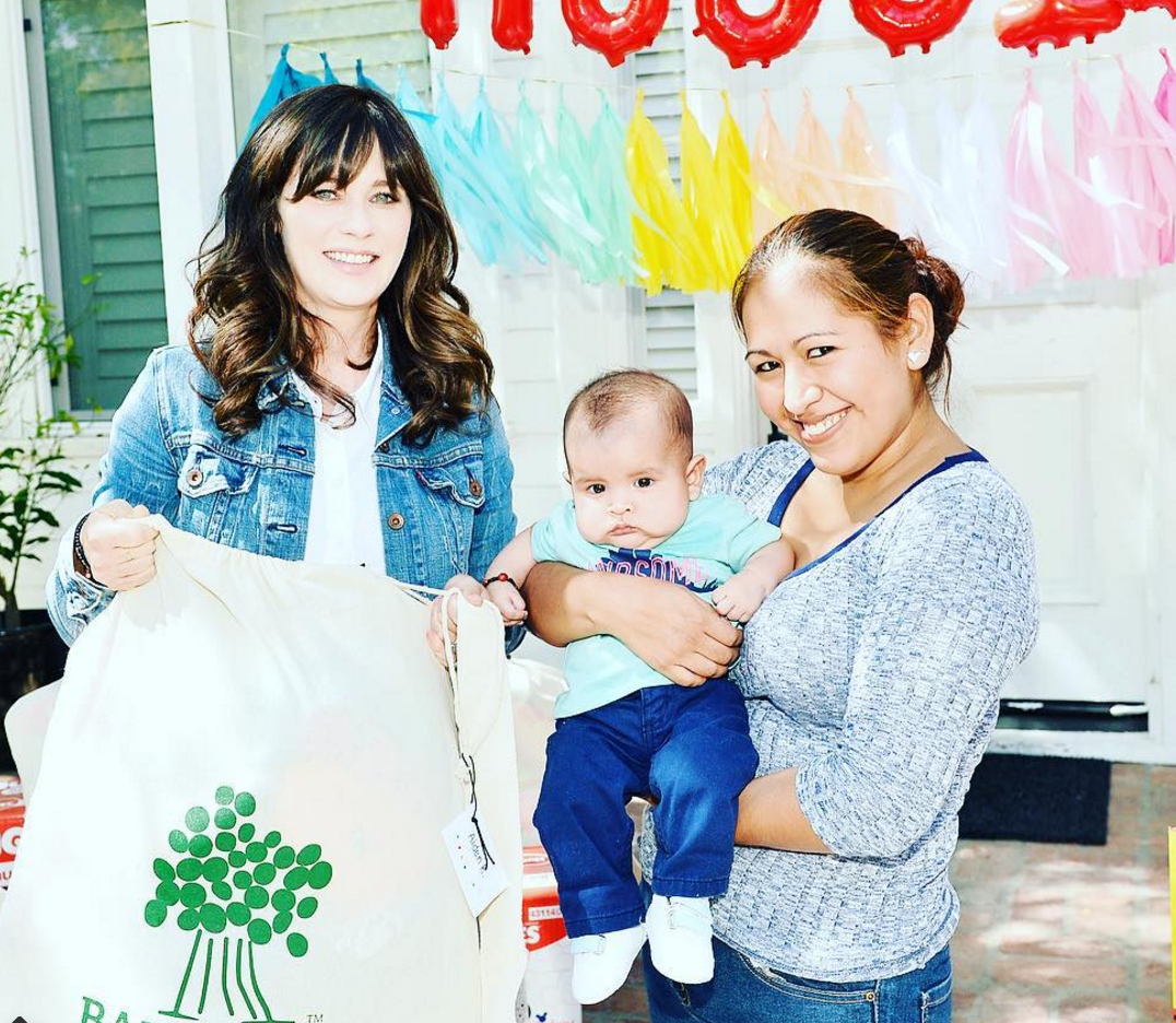 Our hero love Zooey Deschanel helped donate 2.5 million diapers to babies in need