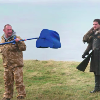 """Try not to laugh at this behind-the-scenes video of Jon meeting Drogon on """"Game of Thrones"""""""