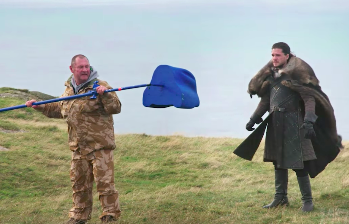 "Try not to laugh at this behind-the-scenes video of Jon meeting Drogon on ""Game of Thrones"""
