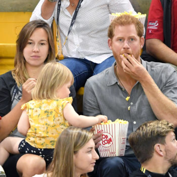A toddler kept stealing popcorn from Prince Harry, his reaction wins the internet