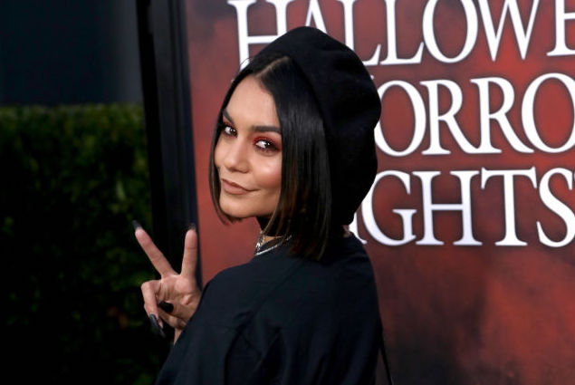 Vanessa Hudgens' sheer star-print dress could double as a boho bridal gown