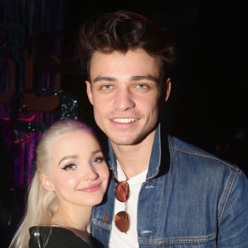 Dove Cameron and her boyfriend made out in the dark, and ended up covered in lipstick