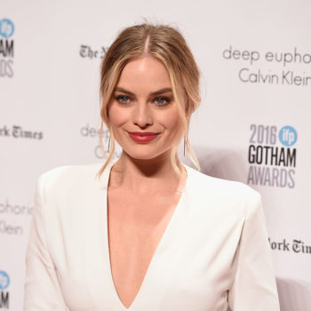 Margot Robbie showed off her tattoo artist skills by tattooing a fan on TV
