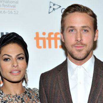 "We just got a rare couples pic of Ryan Gosling and Eva Mendes at the ""SNL"" after-party"