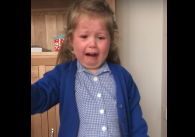 This little girl had the most epic meltdown when she found out she was getting a baby brother