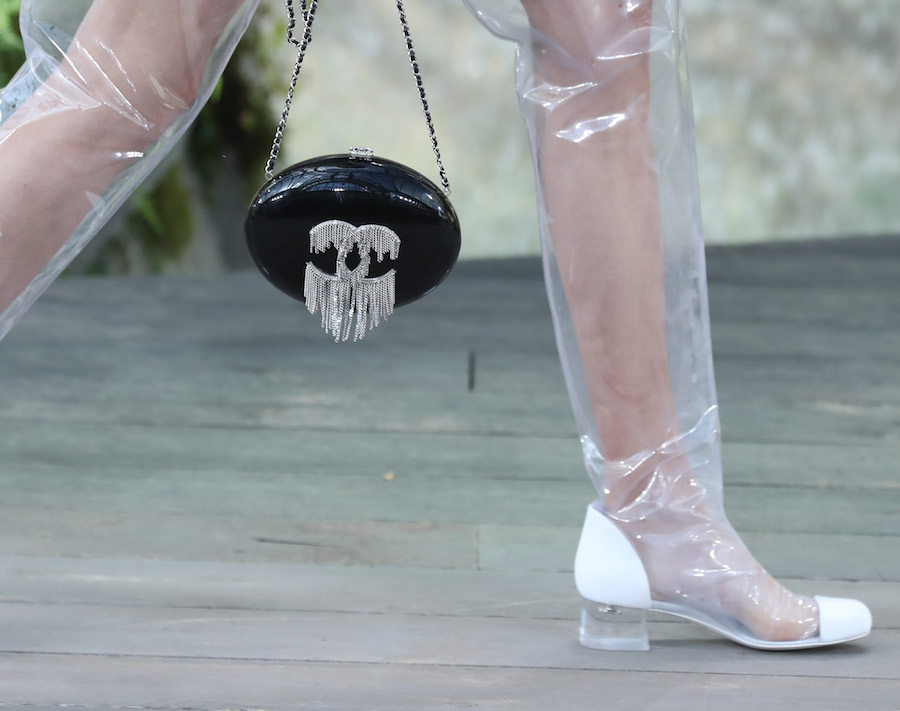 The internet is freaking out over Chanel's clear plastic rain boots