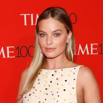 Margot Robbie donned a goth lingerie top on the red carpet