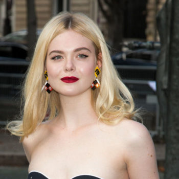 Elle Fanning's rainbow shoes look like they're made out of Lite-Brite pieces
