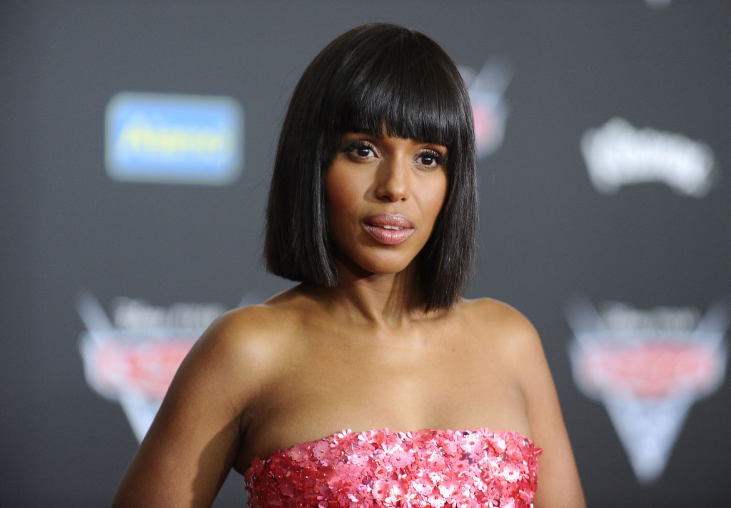 Kerry Washington's thigh-high red boots are a sultry fall staple
