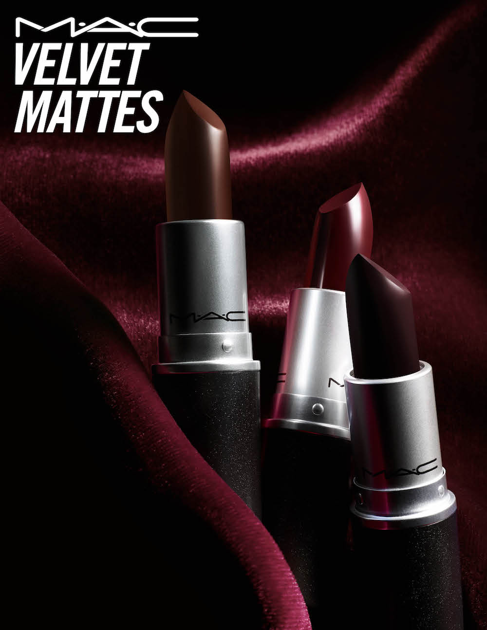 Bring on the drama this Halloween season with MAC's new vampy-colored Velvet Matte lipsticks