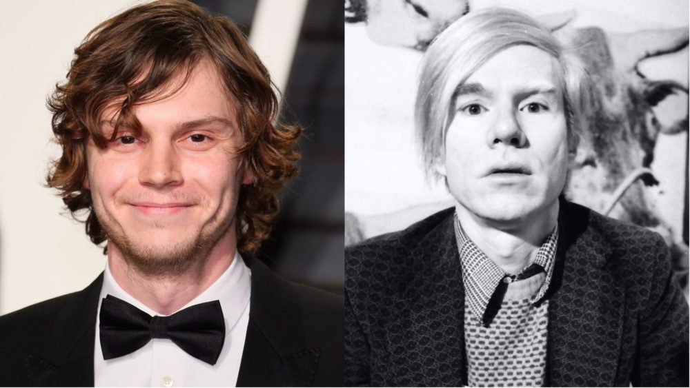 "Evan Peters just transformed into Andy Warhol for ""American Horror Story,"" and you've got to see it to believe it"