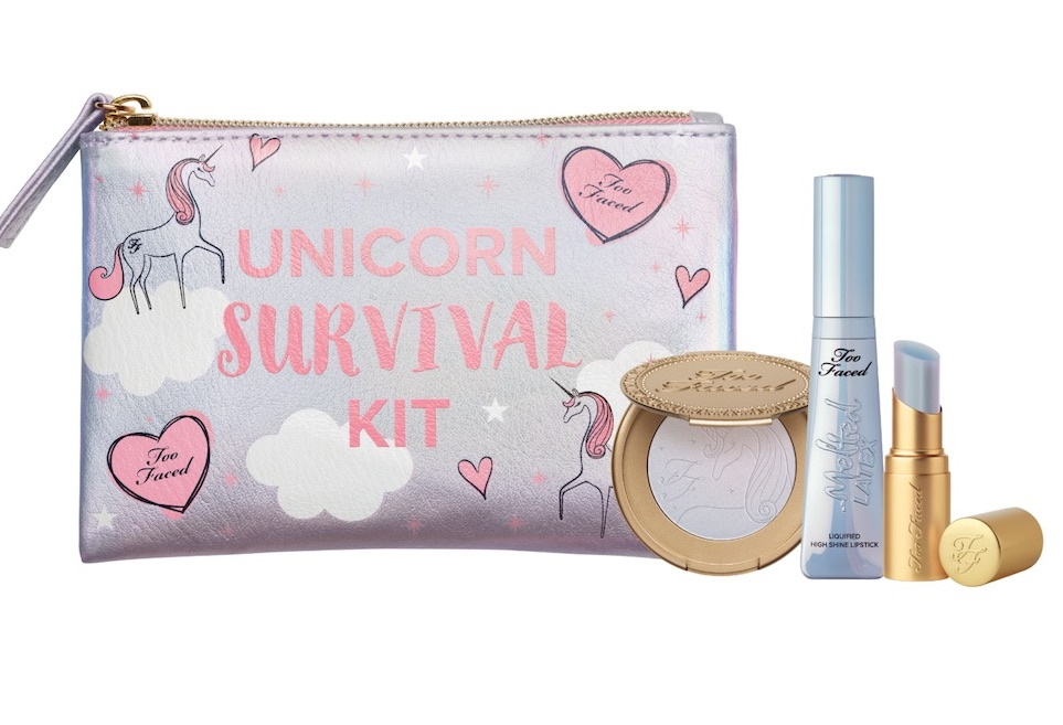 Too Faced just released its Unicorn Survival Kit for all of your magical makeup needs