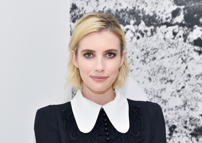 Emma Roberts's cheerleader sweater is giving us team spirit